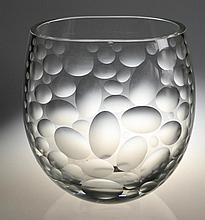 An Etched Art Glass Vase