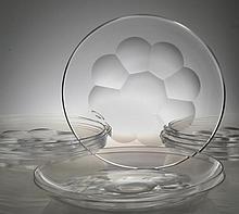 (13 )Josair French Glass Dessert Plates