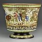 A Large  Antique Austrian Majolica Porcelain Jardinere