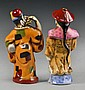 (2) Pcs Chinese Porcelain Male Figure Snuff Bottles
