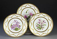 (12) Limoges Hand Painted Porcelain Dinner Plates