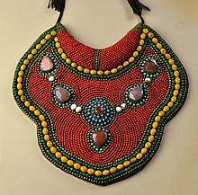 Fine Qing Period Turquoise, Coral & Multi-Stone Collar