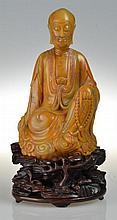Impressive Chinese Tianhuang Stone Figure on Stand