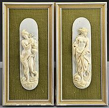 Pr. Antique European Ivory Plaques