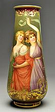 Exceptional Royal Vienna Signed Wagner Portrait Vase