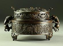 A Finely Cast Chinese Bronze Censer