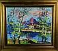 Morris Katz Oil Painting On Masonite