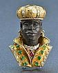 Diamond, Gemstone, & 18K Blackmoor Figural Brooch