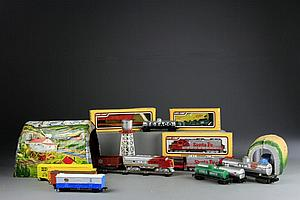 Large Grouping of Mostly H.O. Scale Trains, Etc.