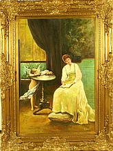 A Signed E. Hale Oil Painting on Canvas