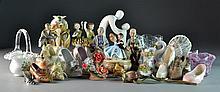 (23) Pcs Assorted Porcelain & Glass Decorative Items
