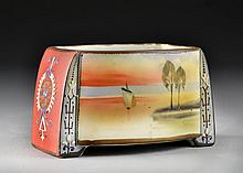 A Nippon Moriage Porcelain Tobacco Jar