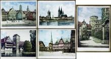 (5) German Etchings