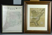 (2) Pcs Early Framed Maps