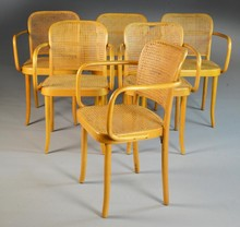 (12) Czechoslovakian Bentwood Arm Chairs