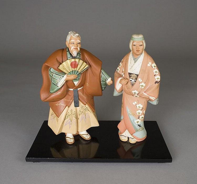 2 Vintage Hakata Urasaki Dolls