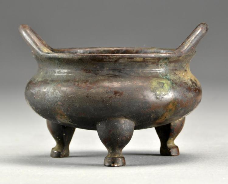 Chinese Ming Bronze Tripod Censer