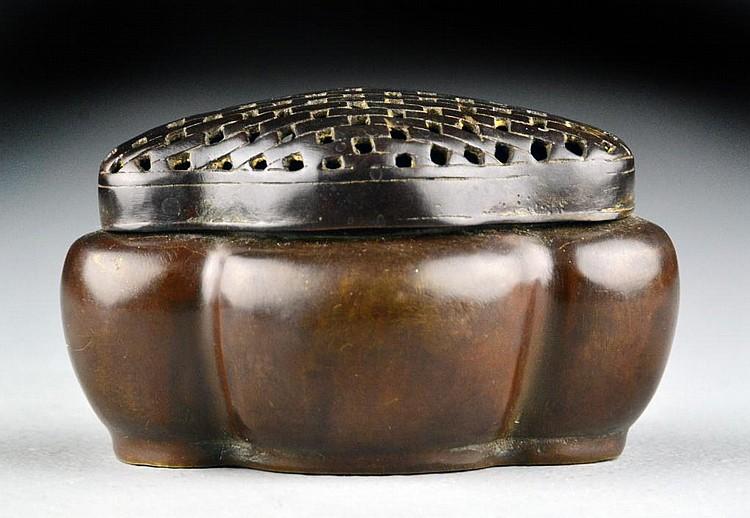 Small Chinese Bronze Hand Warmer