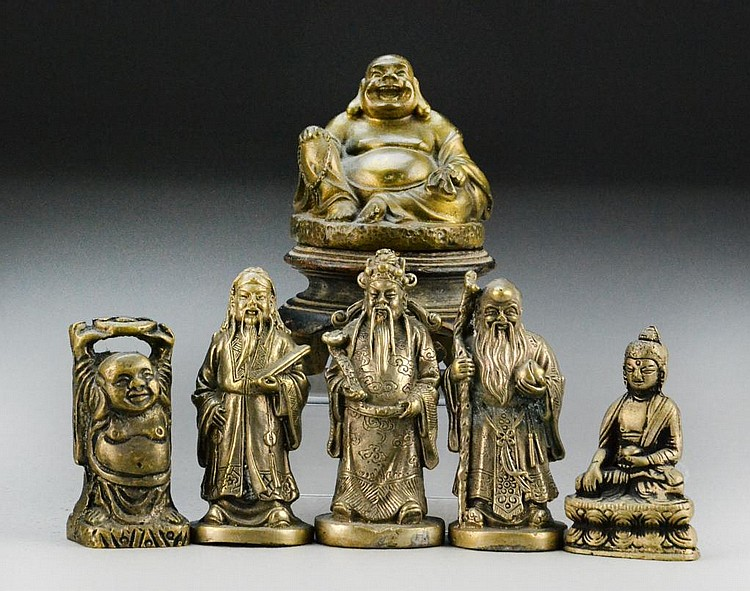 (6) Chinese Bronze Figures