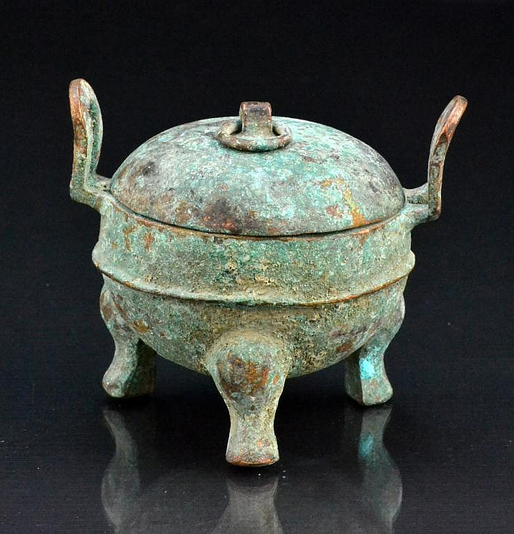 Chinese Archaic Style Bronze Tripod Censer