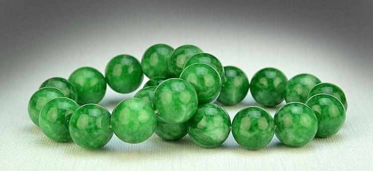 Pr. Chinese Jade Bead Bracelets