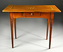 A Fine Louis XVI Inlaid Mahogany Side Table