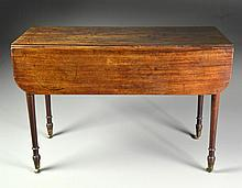 An Antique Mahogany One Drawer Pembroke Table