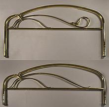(2) Contemporary Brass Headboard & Footboard