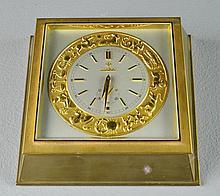 A Fine Bronze Zodiac Desk Clock