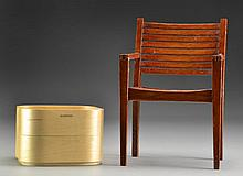 (2) Danish Desk Box & Miniature Deck Chair