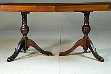 Duncan Phyfe Style Mahogany Dining Room Table