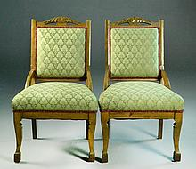 Pair of Oak Victorian Chairs