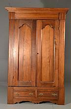 Antique Eastlake Carved Pine Wardrobe