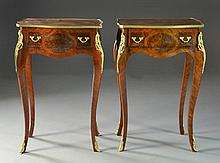 (PR) Louis XV Style Gilt and Metal Mounted Side Tables