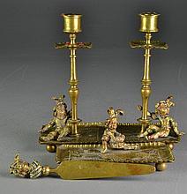 (4) Pcs Victorian Brass Ink Set