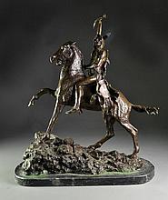 After Frederic Remington Bronze Sculpture