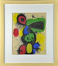 Manner of Joan Miro Watercolor & Gouache on Paper
