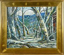 Bears the Signature John F. Carlson Oil on Canvas