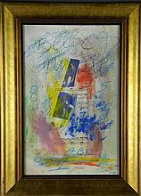 Style of CY Twombly Mixed Media On Heavy Paper