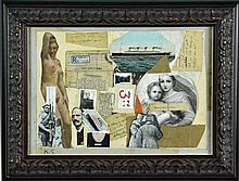 Manner of Kurt Schwitters Collage On Panel
