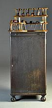 A Large Antique Pipe Collection & Humidor Cabinet