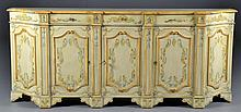 Italian Style Polychrome Painted Credenza