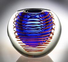 Stanislav Libensky Art Glass Vase
