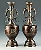 Pr. Japanese Bronze Vases