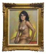 Betti Bernay (1926-2010) Female Nude Pastel Study