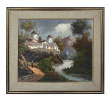 Betti Bernay (1926-2010) Dutch Landscape Painting