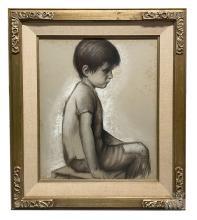 Betti Bernay 1926-2010 Portrait of a Boy Painting