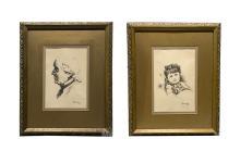 Betti Bernay 1926-2010 Graphite Portrait Sketches