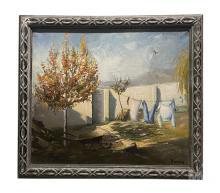 Betti Bernay (1926-2010) Rural Landscape Painting