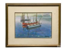 Betti Bernay (1926-2010) Coastal Seascape Painting